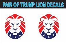 """Set of 2 SMALL 3""""x2"""" 'Trump Lion' Decals 45th president sticker graphic MAGA KAG"""