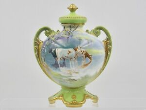 A Twin Handled Jar and Lid by Arthur Eaton for Royal Doulton CIRCA 1905