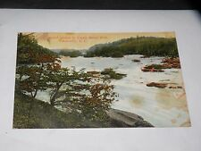 VINTAGE postcard THOUSAND ISLANDS IN THE FRENCH BROAD RIVER Asheville, NC 1909