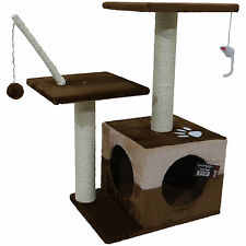 CAT ACTIVITY CENTRE TOY PLAY AREA BED PLATFORMS SCRATCHING POST SCRATCHER KITTEN