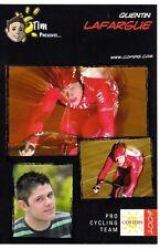CYCLISME carte cycliste QUENTIN LAFARGUE équipe COFIDIS 2009
