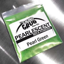 NEW 1 OZ. PEARL GREEN with Gold Sheen Pearlescent Mica Powder Fishing Plastisol