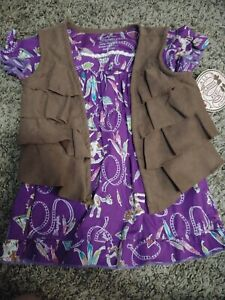 NWT Wrangler All Around Baby Purple Horse Print Dress Size 6-9 months With Vest