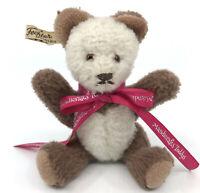 Fechter Austria Miniature Teddy Bear 16cm 6.5in Dralon Plush Jointed 1960s Label