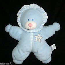 "Kids Preferred Blue Very Special Boy Bear 12"" Star Shape Plush Stuffed Ruffle"