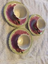 Set Of Laura Ashley Pink Flower Tea Cups X3