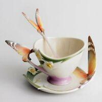 Franz Porcelain Butterfly Cup Saucer & Spoon Set XP1693