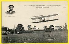 cpa PARIS PIONNIER de l'AIR AVIATION L'AÉROPLANE et PILOTE Wilbur WRIGHT en VOL