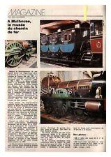 1977 DOCUMENT (ref PEL 4934) TRAIN  : MUSEE DE MULHOUSE  1p