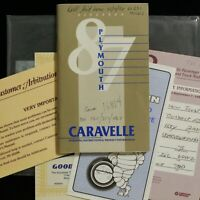 1987 Plymouth Caravelle Operators Owners Manual