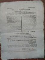 1797 ARMATA FRANCESE IN ITALIA: PROCLAMA NAPOLEONE SU CENSO TERRITORI LOMBARDIA