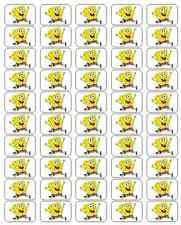 "50 SpongeBob Envelope Seals / Labels / Stickers, 1"" by 1.5"""