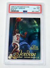 MICHAEL JORDAN MJ 1996-97 FLAIR SHOWCASE ROW 2 #23 PSA 6 EXCELLENT-MINT EX-MT