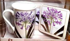 'Time for Tea' creativetops,3 pc Set,Agapanthus,China Mug,Tray,Purple Coffee,Box