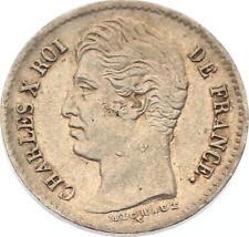 O4583 RARE 1/4 Franc Charles X  1830 A Paris Argent SUP ->F offre
