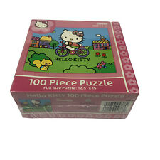Hello Kitty Riding Bicycle 100-piece Jigsaw Puzzle - New Sealed From 2005