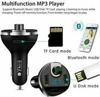 Kabelloser Bluetooth-FM-Transmitter im Auto MP3-Radio-Adapter Schnelle USB- X0Y9