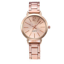 Quartz Stainless Steel Band Marble Strap Watch Analog Round Women Wrist Watch