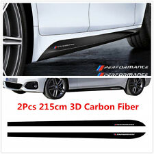 2PCS For BMW M PERFORMANCE VINYL STICKERS Car Bumper Side Skirt DECAL Graphic