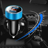 Dual USB 3.1A Car Charger Adapter 2 Port LCD Display Cigarette Socket 12-24V