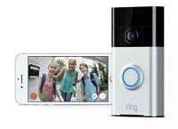 Ring Wireless Video Doorbell - Satin Nickel  Brand New