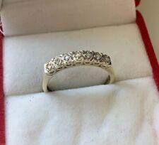 9ct Yellow Gold Diamond Eternity Ring Size P UK Hallmarked