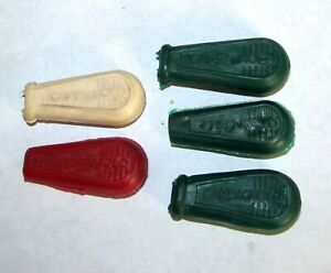 5 Campagnolo Shift Lever or Quick Release Rubber Hoods Covers Green White Red