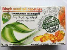 Huile de Nigelle Capsules Bio 100%Ethiopie(Habachia) 80 pièces