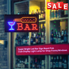 Neon Animated Led Bar Club Business Sign Open Light Bar Store Shop Display Board