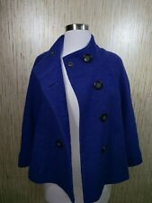 GERRY WEBER Womens JACKET SIZE 8 double breasted, Blue Wool