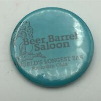 "Vtg BEER BARREL SALOON Worlds Longest Bar 2-1/4"" Button Pinback Put-In-Bay Q8"