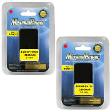 2x 2850mAh BATTERY for SONY NP-FH100 Handycam HDR-CX100 HDR-CX11 Camera TWO BATT