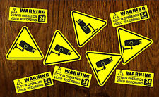 10 X Warning Stickers Sign CCTV Video Camera Recording Home Car Vehicle Safety +