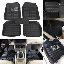 US 5pc Universal Car Floor Mats FloorLiner Front + Rear Carpet All Weather Black