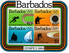 Barbados 1984 Summer Olympic, Los Angeles 1984, MNH, perf.