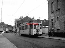 PHOTO  BELGIUM TRAMS 1959 QUIEVRAIN SNCV STANDARD TRAM  NO 10358 ON ROUTE 7