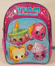 NWT Shopkins pink blue Team Sprinkles sparkly girls backpack school book bag