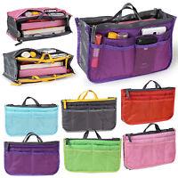 Women Travel Insert Handbag Organiser Lady Purse Large Liner Organizer Tidy Bag