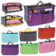 Women Travel Insert Handbag Organiser Lady Purse Large Liner Organizer Tidy Bag