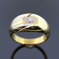 DESIGN-RING FURRER JACOT 750/- GOLD BICOLOR OVALER DIAMANT 0,25ct  WERT 2890,-€