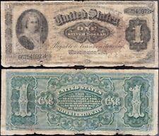 "Circulated 1886 $1 Ornate Back ""MARTHA"" Silver Certificate! FREE SHIP! B67540972"