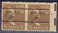 US: Precancel w/perf ERROR: St. LOUIS, MO 805b-61. imperf. between full  OG.