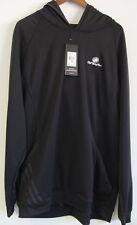Adidas ClimaLite Warm Hoodie Sweatshirt Size 2XL Black Club Logo NWT $60 Retail