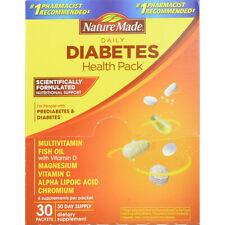 Nature Made diabetes health 30 day supply packets 6 supplements per packet
