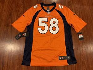 Nike Men's Von Miller Denver Broncos Orange Game Version Jersey Large L NFL