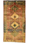 Vintage Persìan Qashqai 5'x8' Red Wool Tribal Hand-Knotted Oriental Rug