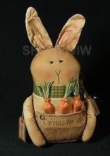 Primitive Harrison Bunny Primitive Rabbit With Carrots New
