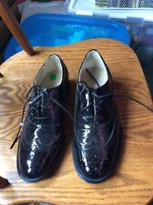 Womens Black Patent Leather Size 10 Lace Up By Wanted