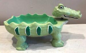 Cute Alligator Soap Dish Tray Green Bobbing Head Jenny & Jeff Designs