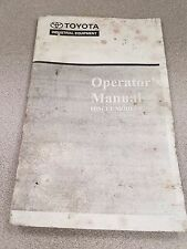 Heavy Equipment Manuals Books For Toyota And Forklift Sale Ebay. Toyota Forklift 6bncue Models Operator's Manual. Toyota. Toyota Forklift 6hbe30 Wiring Diagram At Scoala.co